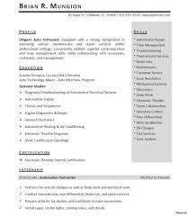 Resumes Internship Resume Objective Engineering Cover Letter Finance