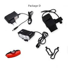 4 mode 1500 Lm <b>3 LED</b> lamp beads Front <b>Bike Bicycle</b> Light <b>Cycling</b> ...