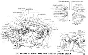 ford mustang 289 engine diagram 1966 1965 mustang instrument panel alternator charging system 1965 mustang wiring diagrams average joe restoration