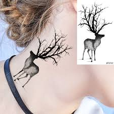 3291 руб временные татуировки наклейки черные женские боди арт шеи маленькие