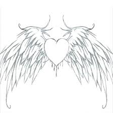 Small Heart Coloring Pages Of Hearts With Wings Acnee