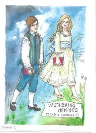 edgar linton wuthering heights what is your damage heathcliff  costume renderings bringing wuthering heights to life charlotte edgar isabella as children