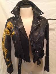 lost boys leopard painted leather jacket
