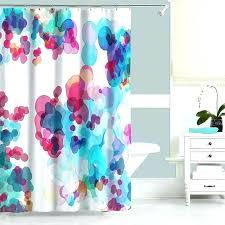 hot pink shower curtain blue and pink shower curtain watercolor shower curtain turquoise blue pink regarding