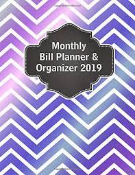 Amazon Com Monthly Bill Planner And Organizer 2019 Bill