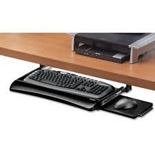 fel office suites underdesk keyboard drawer black silver 9140303