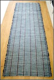cotton rag rug runner woven