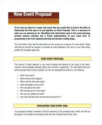 Event Planning Proposal Proposal For Event New Event Proposal Sample Event Proposal