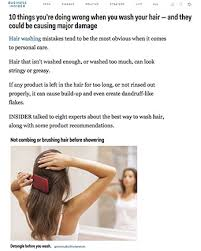 10 things you re doing wrong when you wash your hair and they could be causing major damage