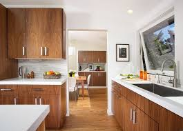 san francisco white countertops with nature fl print window kitchen contemporary and open floor plan