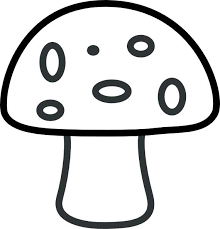 Small Picture Mushroom Coloring Page for Kids Free Printable Picture