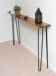 very narrow hall table. Modern Very Narrow Entryway Table Console With Hairpin Legs For The Smallest Hall O