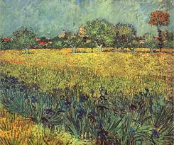 view of arles with irises i painting vincent van gogh view of arles with irises