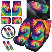 funky tie dye car seat covers full set