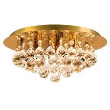 modern round ceiling chandelier light crystal droplets gold stx50019 4g0 intl