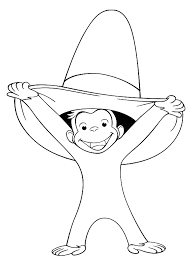 Curious George Coloring Pages Smiling Coloringstar