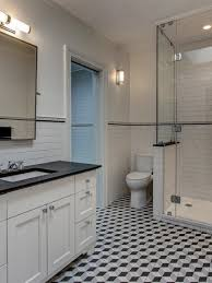 bathroom designs and ideas. Unique Designs Transitional Bathroom With Geometric Tile Floor Inside Designs And Ideas V