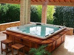 hot tub outdoor hot tub deck