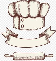 Bakery Logo Pastry Cookie Hand Drawn Vector Chef Hat With Ribbon
