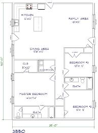 barndominium house plans. Simple Plans 3 Bed 2 Bath U2013 35u0027x50u2032 1750 Sq Ft To Barndominium House Plans D