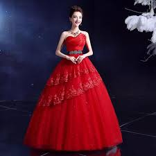 simple china wedding dress ivory and red two colors choose lace formal wedding gown for bridal