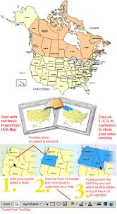 Us Map Editable In Powerpoint Usa And Canada Combo Powerpoint Map Editable States Provinces