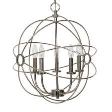 catalina lighting 5 light chrome orb chandelier