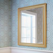 a beautiful bathroom mirror with a diy mirror frame