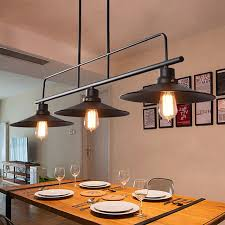 industrial bar lighting. Large Chandelier Lighting Black Pendant Light Bar Lamp Kitchen Ceiling Lights Industrial G