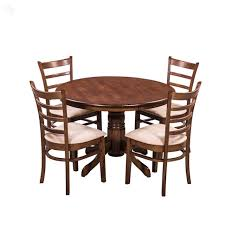 Wooden Kitchen Table Set Buy Royaloak Coco Dining Table Set With Four Chairs Solid Wood