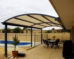 brown aluminum patio covers. Arched Aluminum Patio Cover Design To Give More Head Room Brown Covers E