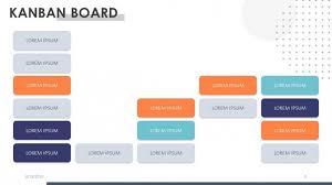 Kanban Chart Creative Kanban Board Free Powerpoint Template