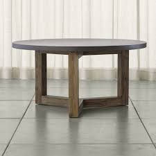 woodward round dining table with solid wood base reviews crate regard to gray decor 4