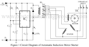 3 phase induction motor starter verified project best Three Phase Motor Starter Wiring Diagram circuit description of automatic induction motor starter the circuit \u201c3 phase electric motor starter wiring diagram