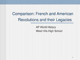 Compare American And French Revolution Venn Diagram French And American Revolutions