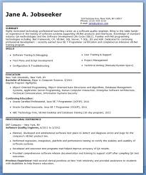 Quality Engineer Resume Examples Cover Letter Samples Cover