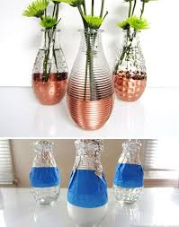 diy copper dipped vases 28 diy glass craft ideas easy crafts to make at