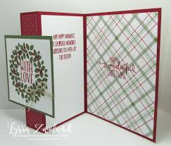 fold card easy fold back front christmas card song of my heart stampers