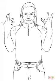 Wwe Jeff Hardy Coloring Page Free Printable Coloring Pages