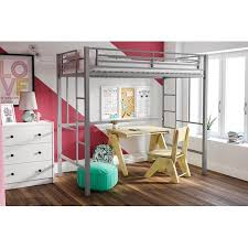 YourZone Metal Loft Bed, Twin Size, Multiple Colors ...