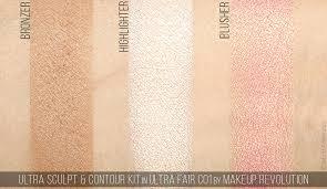 ultra sculpt contour kit by makeup revolution review swatches