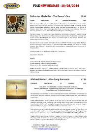 Music Charts August 2014 Pmd New Releases 18th August 2014 By Proper Music Issuu