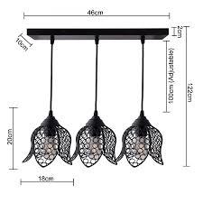 3 lights linear cer chandelier black lotus hanging pendant light kitchen area and dining room light