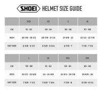 Shoei Nxr Size Chart Shoei Nxr Size Chart Shoei Helmet Size Chart