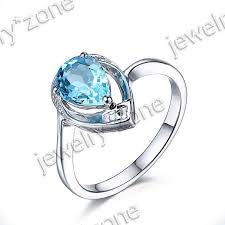 fine gemstone swiss blueee topaz 10k white gold diamond ring sz6 5 solid pbkvtm7721 gemstone