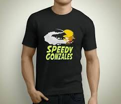 Details About New Speedy Gonzales Old School Cartoon Mens Black T Shirt Size S To 3xl