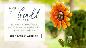 have a ball this fall garden accents