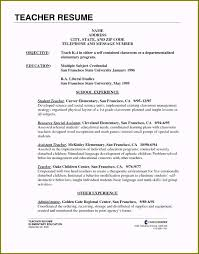 Example Teaching Resumes What Does A Resume Need Stunning 6 Elementary Teacher Resume