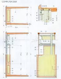 computer desk plans