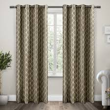 com exclusive home curtains trellis grommet top window curtain panel pair taupe 54x96 home kitchen